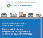 Saae-Sorocaba adota WhatsApp para agilizar religação de água