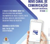 Saae oferece canal exclusivo  para atendimentos emergenciais