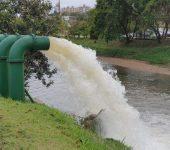 Saae testa estações de bombeamento de água pluvial na avenida Dom Aguirre