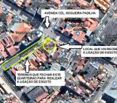 Nova ligação de esgoto interditará rua