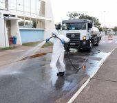 Desinfecção das unidades de saúde prossegue em sua segunda semana