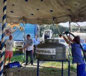 Saae atende circo instalado na Dom Aguirre em situação emergencial de abastecimento