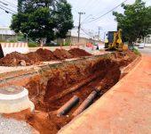 Saae realiza nova etapa de remanejamento de rede de água na Zona Norte.