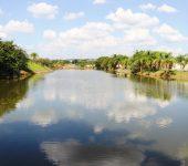 Saae conclui remoção de algas que cobriam a bacia de contenção no Jardim Abaeté.