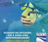 Saae-Sorocaba orienta usuários sobre consumo consciente de água.