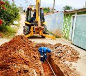 Saae-Sorocaba realiza implantação de rede de água no Recanto Jataí.