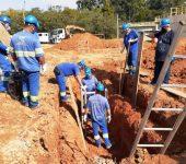 Saae-Sorocaba capacita servidores em técnicas de segurança para escavações.