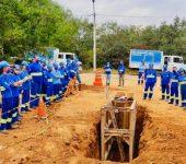 Saae-Sorocaba qualifica novo grupo de servidores em técnicas de segurança para escavações.