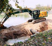 Saae-Sorocaba realiza serviços de melhorias no lago do Parque dos Espanhóis