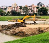 Saae-Sorocaba retira 2.350 caminhões de terra da bacia de contenção da Água Vermelha