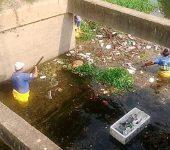 Saae-Sorocaba realiza limpeza na foz do córrego Lavapés