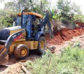 Obras da rede de esgoto no bairro Jacutinga avançam para 36% do total previsto e já atendem 80 famílias